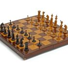 Games set - chess, draughts and so caleed hammer and bell game