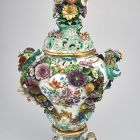 Ornamental vase with lid