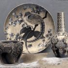 Photograph - Zsolnay vases and bowl