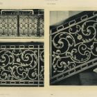 Design sheet - stair and altar door ironwork from the Royal Palace