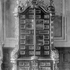 Interior photograph - Baroque cabinet in the grand salon in the Batthyány Palace (Teréz boulevard 13.)