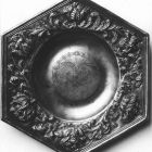 Photograph - hexagonail dish with the arms of Benedek Serédi and Borbála Újlaki, from Géza Andrássy's collection