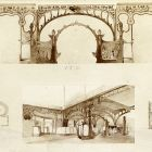 Exhibition installation design - for the Hungarian textile group at the Paris Universal Exposition 1900