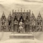 Photograph - home altar of Queen Elisabeth from the Rothschild collection at the Paris Universal Exposition 1900