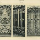 Design sheet - ironwork window and gate of the previous Royal Palace