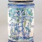 Pharmacy jar - with Adam and Eve