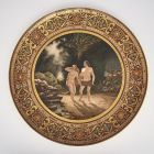 Ornamental plate - depicting Adam and Eve in the Paradise