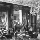 Interior photograph - salon in the Zichy palace (Múzeun str. 15.)