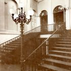 Interior photograph - staircase in the Károlyi Palace (Egyetem, today Károlyi str.)