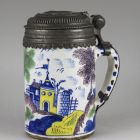 Tankard with pewter lid