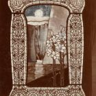 Exhibition photograph - Night landscape with water lilies' stained glass window, Christmas Exhibition of the Association of Applied Arts 1900