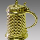 Tankard with cover - with diamond-faceted decoration