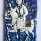 Tile - with horseman holding a lance