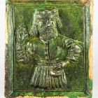 Stove tile - depicting a man with beard