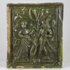Stove tile - depicting a courting scene