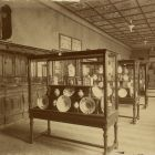 Interior photograph - Haban ceramics in the 'Hungarian Room' of the permament exhibition of Museum of Applied Arts