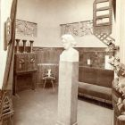 Exhibition photograph - music room with Ede Telcs' Beethoven sculpture, Milan Universal Exposition 1906