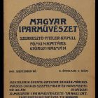 Coverpage - for the periodical Magyar Iparművészet (Hungarian Applied Arts)