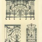 Design sheet - detail of the staircase railing and design of balcony and gate ironwork of the previous royal mansions