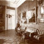 Interior photograph - so called yellow salon in the Palace of wife of Gyula Károlyi (Szentkirályi str. 32.)