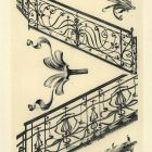 Design sheet - details of wrought iron stair railings