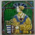Stove tile - depicting Queen Anne of Jagello